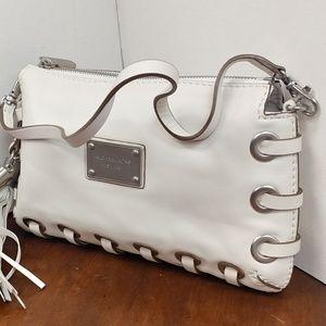 Michael Kors White Leather Small Hand Bag